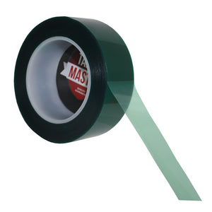 "1.5"" x 72 yds - 2 Mil Green Powder Coating Masking Tape - High Temperature, Green Powder Coating Tapes- Tapes Master"