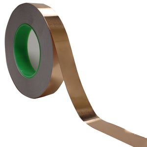 "1"" x 55 yds - 1 Mil Copper Foil EMI Shielding Conductive Adhesive Tape, Copper Foil Tapes- Tapes Master"