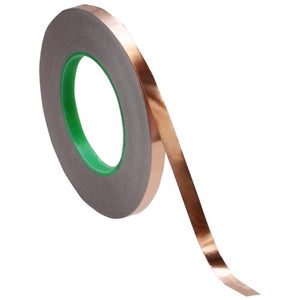 "3/8"" x 55 yds - 1 Mil Copper Foil EMI Shielding Conductive Adhesive Tape, Copper Foil Tapes- Tapes Master"