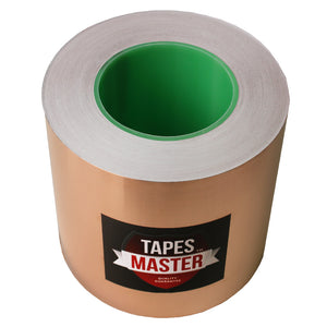 "5"" x 55 yds - 1 Mil Copper Foil EMI Shielding Conductive Adhesive Tape, Copper Foil Tapes- Tapes Master"