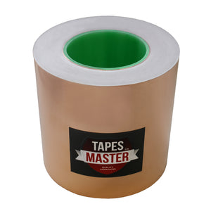 "6"" x 55 yds - 1 Mil Copper Foil EMI Shielding Conductive Adhesive Tape, Copper Foil Tapes- Tapes Master"