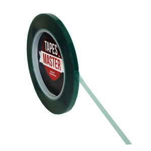 "1/4"" x 72 yds - 2 Mil Green Powder Coating Masking Tape - High Temperature, Green Powder Coating Tapes- Tapes Master"