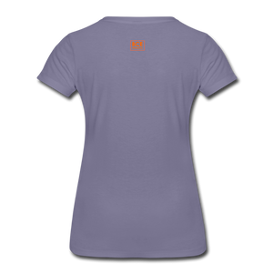 African Fabric Co. Women's Premium T-Shirt (Light) - washed violet