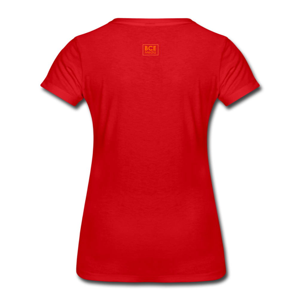 African Fabric Co. Women's Premium T-Shirt (Light) - red