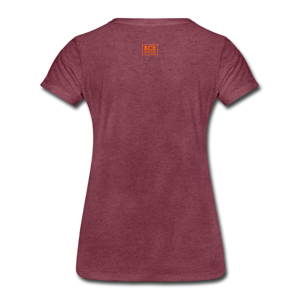 African Fabric Co. Women's Premium T-Shirt (Light) - heather burgundy