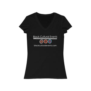 Black Cultural Events Women's Jersey Short Sleeve V-Neck Tee