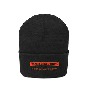 Black Cultural Film Knit Beanie