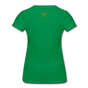 African Fabric Co. Women's Premium T-Shirt (Light) - kelly green