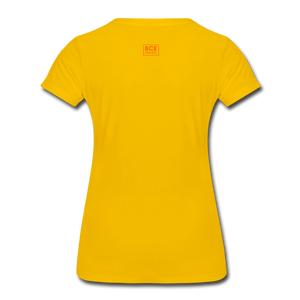 African Fabric Co. Women's Premium T-Shirt (Light) - sun yellow