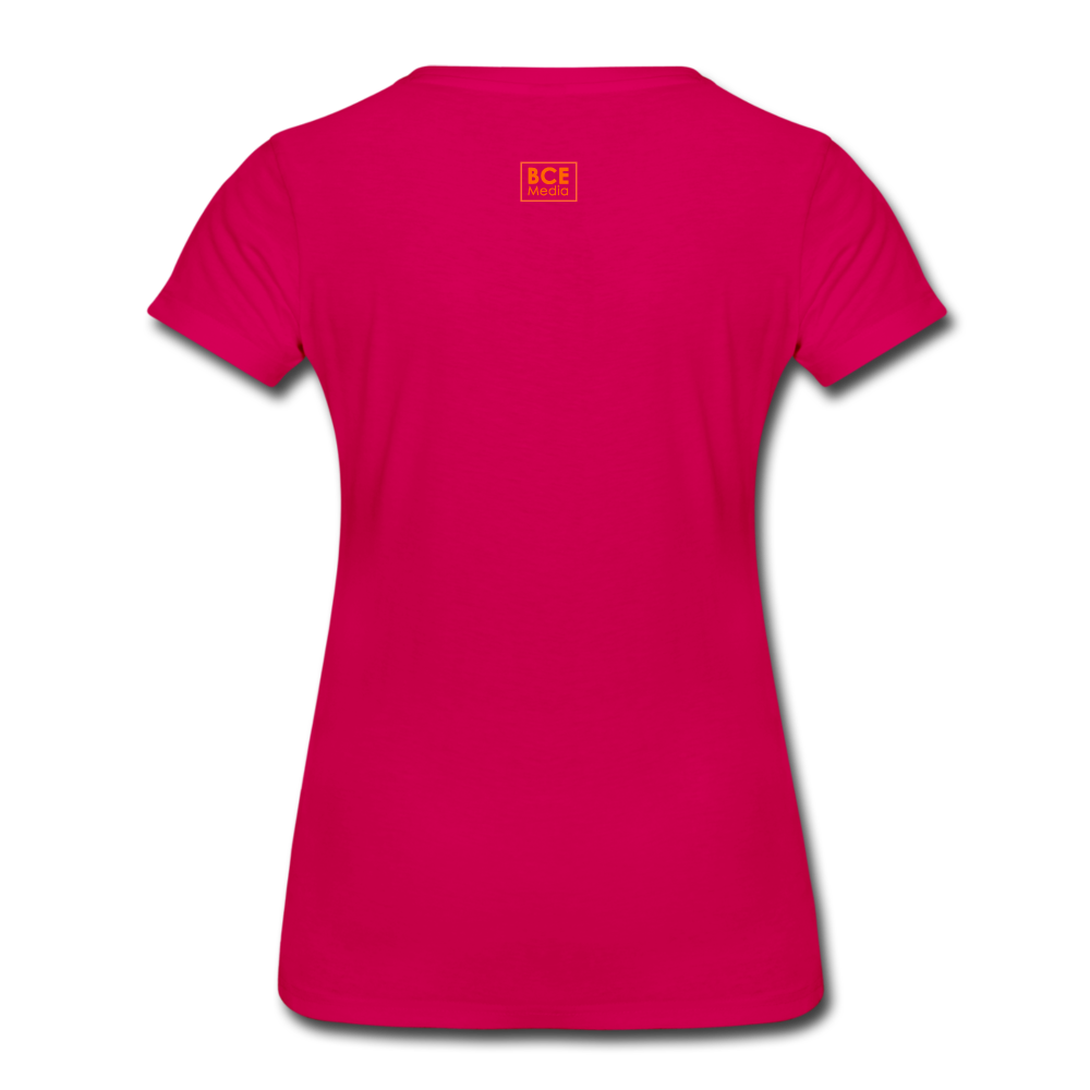 African Fabric Co. Women's Premium T-Shirt (Light) - dark pink