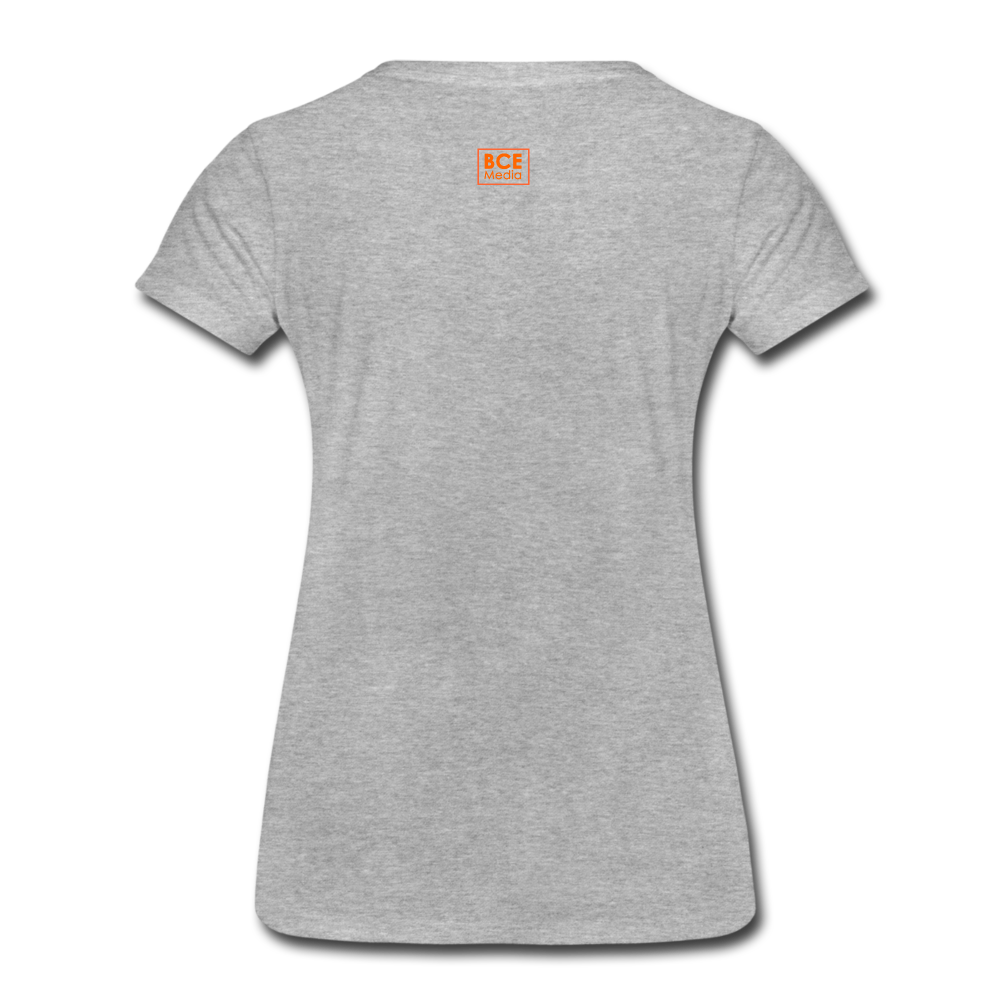 African Fabric Co. Women's Premium T-Shirt (Light) - heather gray