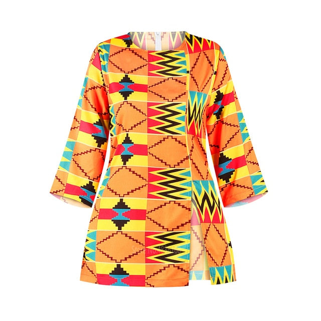 African Women Clothes Bazin Riche Dashiki T Shirt Traditional Print Clothing Vestido Africa Ankara Style Tops Fashion Blouse Tee