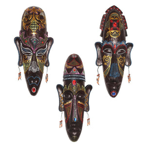 Zakka 3D Hand Painted Retro African Masks
