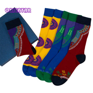3 Pairs/pack Women Socks African Design Colorful Soft Socks Leisure Cotton Warm African Women Sock Gift Female WYB468