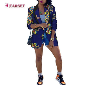 Women's Traditional African Print Slim Fit Blazer