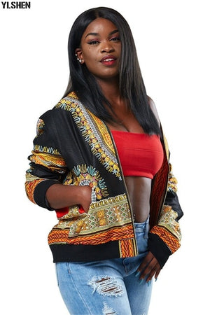 African Traditional Print  Women's  Jacket