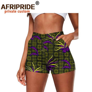 African Print Cotton Summer Shorts