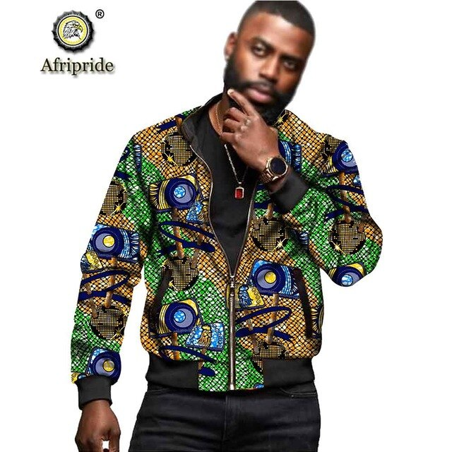 African Dashiki Print Men's Jacket
