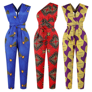 African Style Dashiki Jumpsuit