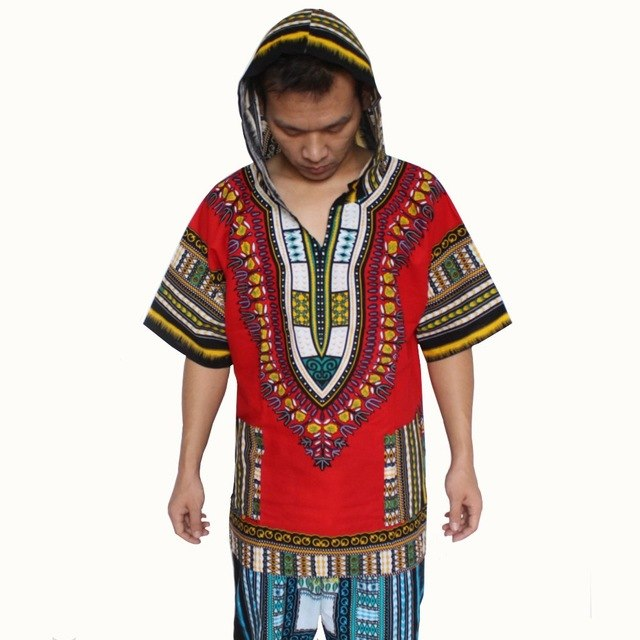 New Design Dashiki Hoodies Loose African Print Dashiki Fabric Hood 100% Cotton Fashion Clothing