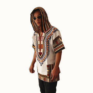African Print Dashiki Fabric Hood 100% Cotton