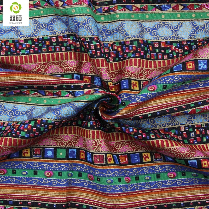 2015 New High Quality African Cotton Linen fabric Meter DIY Handmade Sewing Patchwork Fabric For Sofa Bags 150*50CM M46