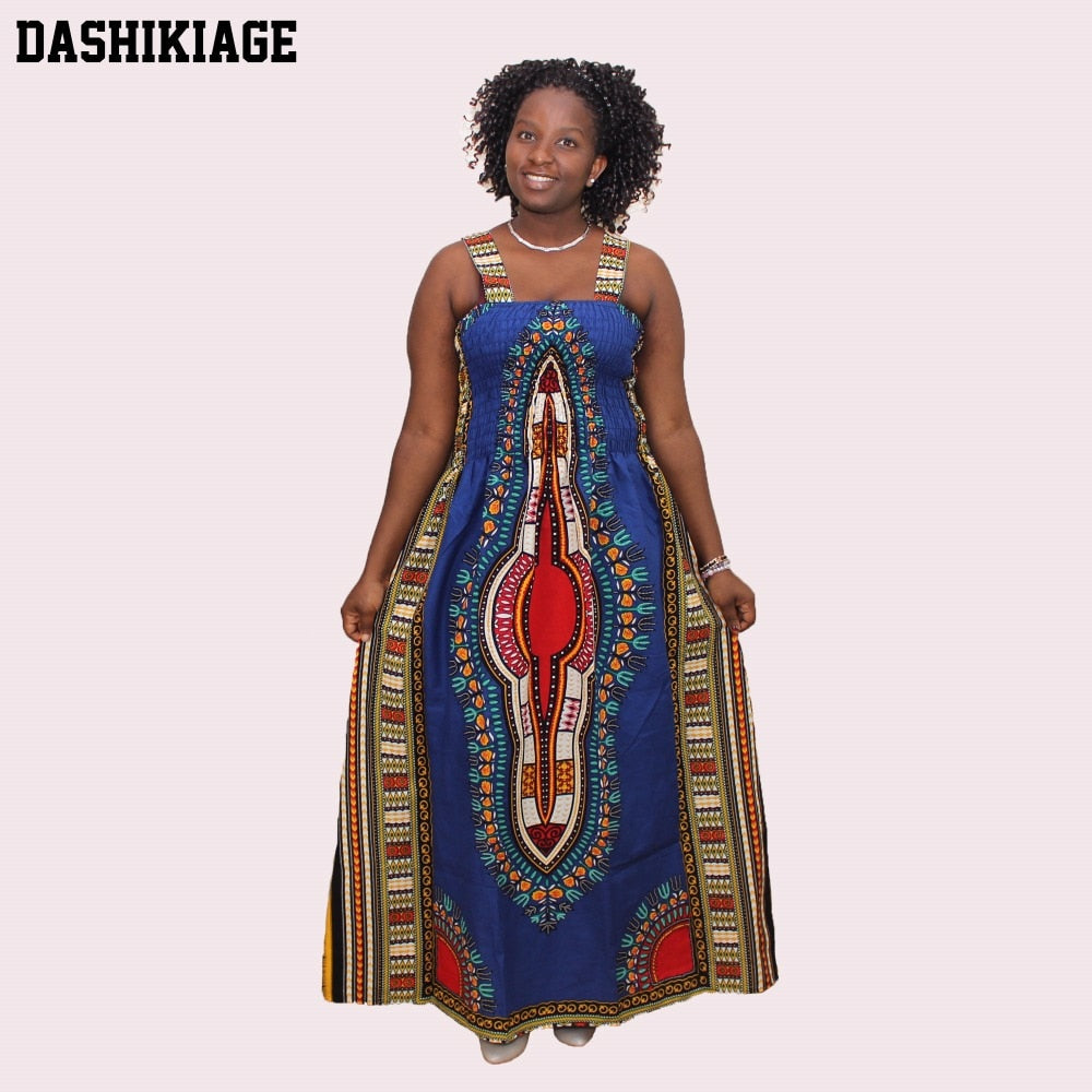 2017 Sexy Backless Dress Summer Dashiki Casual Sundress Beach Women Plus Size Sexy Dress Vestidos De Playa