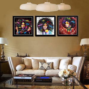 Modern Afro Abstract Art (Pick your size) - African Fabric Co.