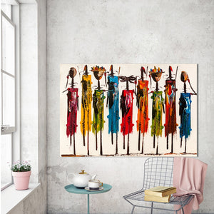 ARTISAN Canvas Art Figure Painting Africans Wall Pictures For Living Room Home Decor Frameless