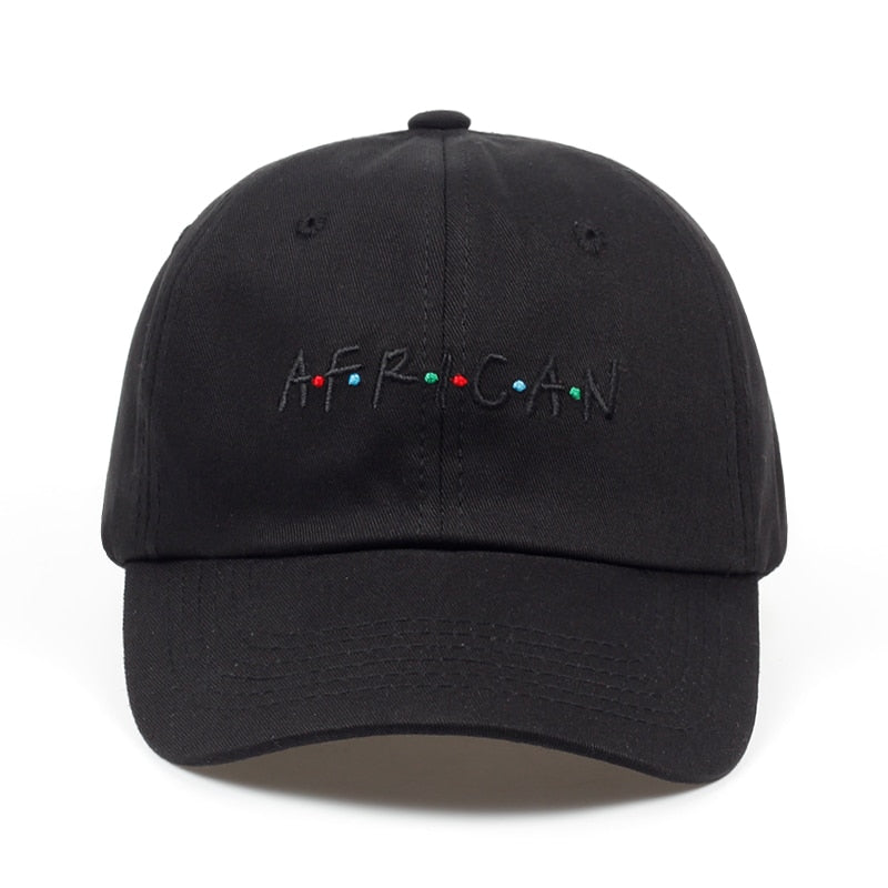 AFRICAN letter embroidery baseball cap snapback hat adjustable fashion