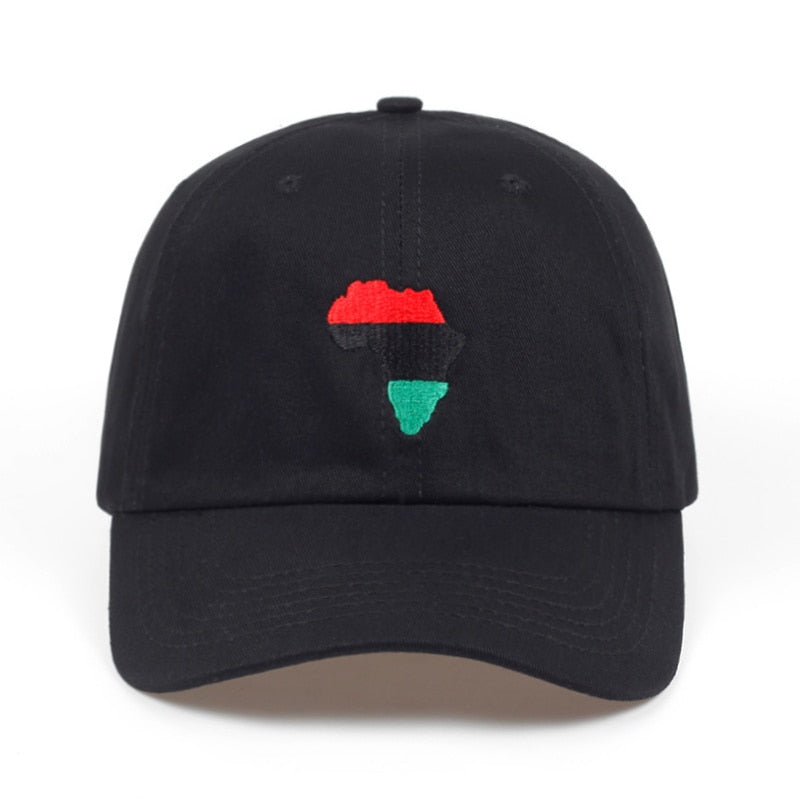 Africa map Unstructured Hat Adjustable men  women fashion Hip-hop