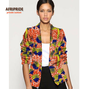 2018 afrcian clothes for women fashion jacket new pattern fabrics coat african femme clothing cotton plus size A722404