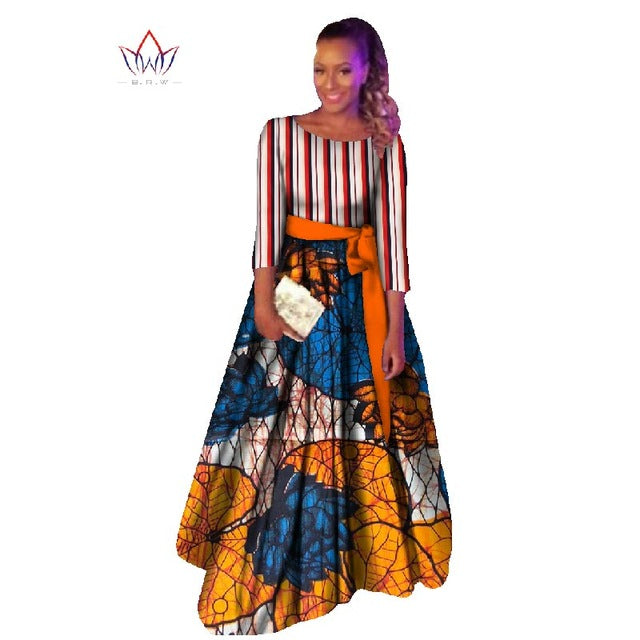 African dashiki dresses cotton traditional african Clothing party dress o-neck dashiki african dresses for women