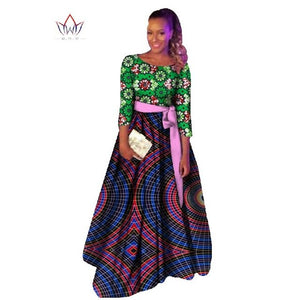 Plus Size african dashiki dresses cotton traditional african Clothing party dress o-neck dashiki african dresses for women WY531