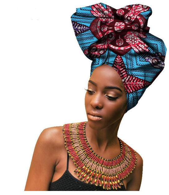 Multi-colored with pearls beauty african headtie for women African Women Headwraps Hight Quality Cotton Head Scarf 50*180CM