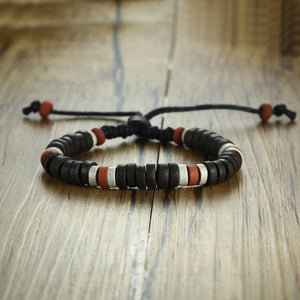 Ancient African Tribal Style Natural Stone Beaded Bracelet for Men Women Ethnographic Unisex Jewelry Adjustable size