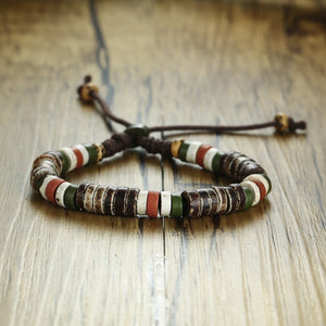 Antique Natural Stone Beaded Bracelet Ancient African And Mexican Stone Beads Bracelets Tribal Style Unisex Jewelry
