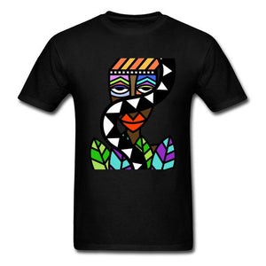 Art Design Men T-shirt African Beauty Abstract Painting Short Sleeve T Shirt Male Unique Street Wear Exotic Tshirt