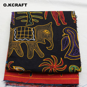 80x140cm Linen Cotton Fabric African Patchwork Batik Fabric Plain Print Fabrics for Sewing Decorations Textile Curtain Tissu
