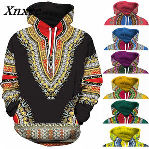 African Dashiki Hoodie 3D Pattern - African Fabric Co.