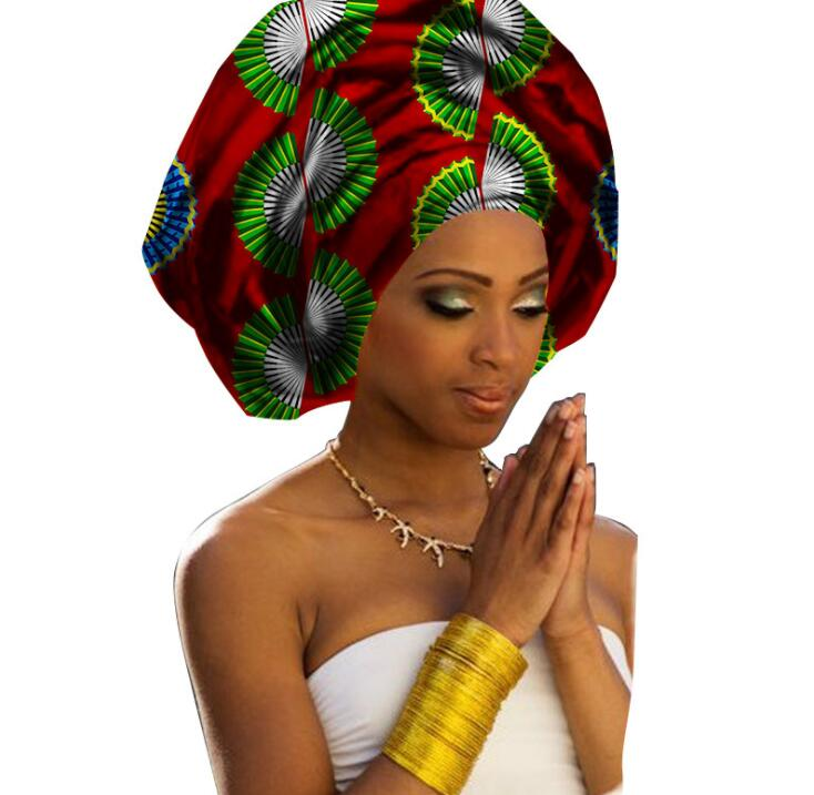 50*180CM Fashion african head scarf print cotton high quality women african clothing bazin rich Headwear