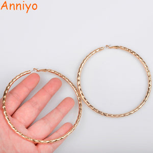 9CM African Big Earrings For Women Ethiopian Jewelry Nigerian Light Rose Gold Earring Africa