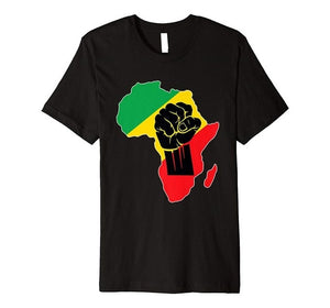 Africa Map Fist African Pride T Shirts