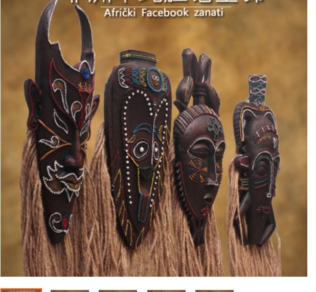 African Handicraft Mask Antique Wall Hanging Wall Decoration
