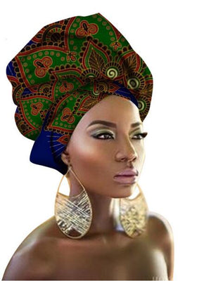 New style design Headscarf long Head scarf Headcover women Turban shawl Warp Hair African Headwrap