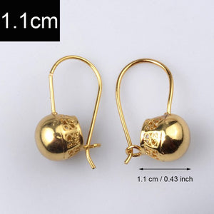 Ethiopian Bead Earrings for Women/Girl Gold Color Jewelry Round Ball Earring