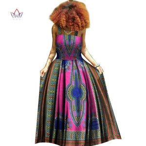 african dashiki women dresses off the shoulder Fashion Design dashiki bazin riche long dress traditional plus size natural WY371
