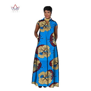 2019 african dresses for women Fashion Design dashiki women bazin riche  long cotton dress dashiki plus size regular  6xl WY716