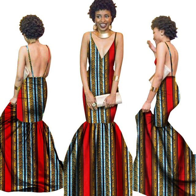 summer Women  traditional african dresses Brand Custom Clothing Africa Wax Dashiki Slim Cut Sexy Dress big size none BRW WY710