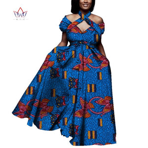 ladies african clothes summer Vintage long Dress Dashiki african bazin dress african print dresses for women short sleeve WY4013